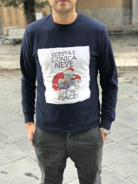 Felpa Natalizia - L'unica neve che mi piace! -  Idee regalo - Gogolfun.it