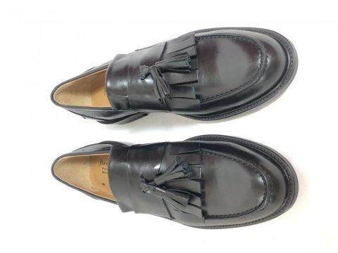 Mocassini neri, con nappine - Vera pelle - Negozio di scarpe uomo gogolfun.it