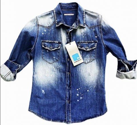 Camicia jeans uomo - Camicia slim -  Camicia uomo - Abbigliamento Gogolfun.it