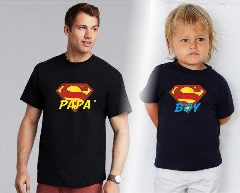 t shirt papà figlio - Nere - Gogolfun.it
