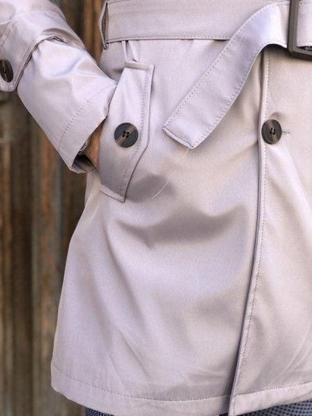 Trench grigio, slim con cintura - Doppiopetto - Negozio Gogolfun.it