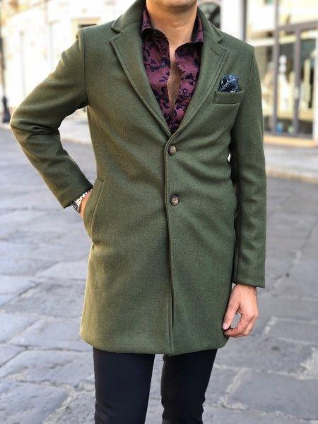 Cappotto uomo, verde - Cappotto verde uomo - Loden uomo - Gogolfun.it