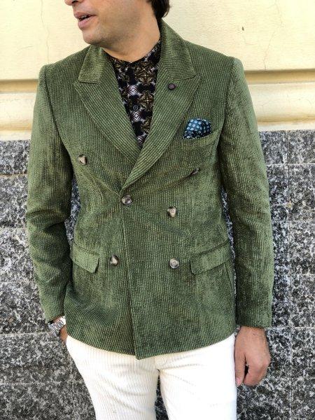 Giacca velluto uomo, verde - Gogolfun.it