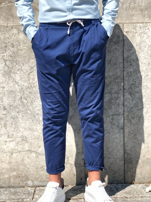 Pantaloni uomo - Pantaloni - Blu - Gean Luc Paris - Gogolfun.it
