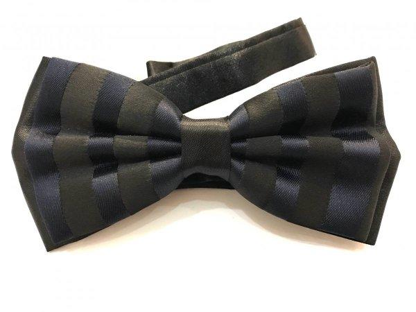 Farfalla in raso a righe blue e nero - Papillon uomo - Shop Gogolfun.it