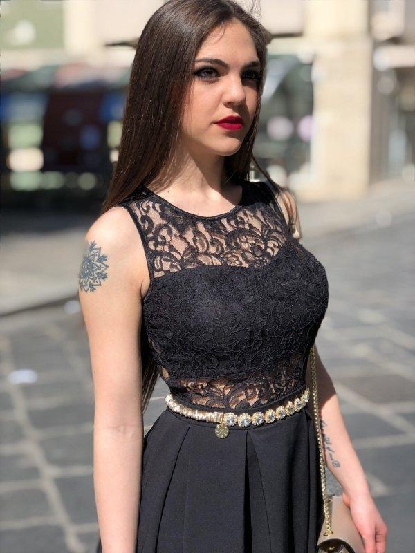 Abitino donna - Nero - Con pizzo