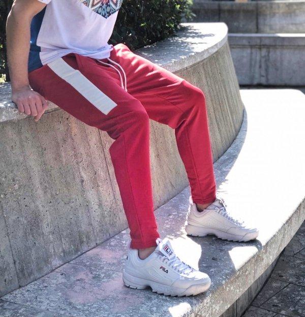 Pantaloni sportivi maschili -pantalone rosso - Gogolfun.it
