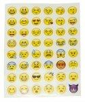 Prezent do Twojego zamówienia - Naklejki 48x Emoji arkusz 14x18cm