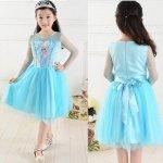 Niebieska sukienka Elsa Kraina Lodu 120cm