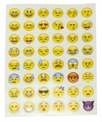 Naklejki 48x Emoji arkusz 14x18cm
