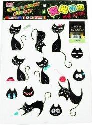 Naklejki ścienne - koty fosforescencyjne
