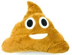 Poduszka Dekoracyjna  Emotki Emoji - poop uśmiech