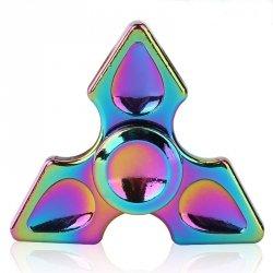 Fidget Spinner Metalowy Tęczowy wzór 4 + box