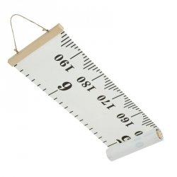 Miarka wzrostu płótno wisząca 20x200cm liczby