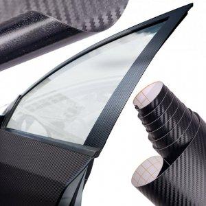 Folia rolka carbon 3D czarna 1,52x30m