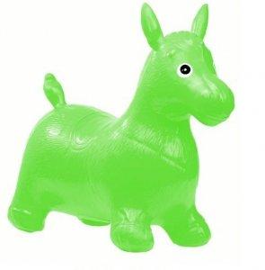 Skoczek gumowy koń zielony