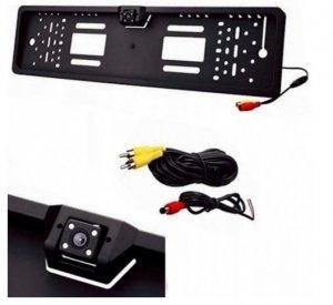 Kamera cofania w ramce tablicy rejestracyjnej LED
