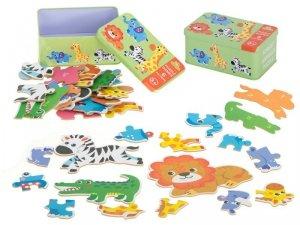 Puzzle w puszce zwierzątka safari 25 puzzli