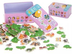 Puzzle w puszce zwierzątka 24 puzzle