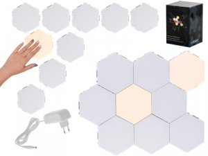 Lampa modułowa LED dotykowa ścienna 9szt ciepły biały