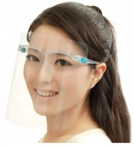 Przyłbica maska ochronna na twarz z okularami