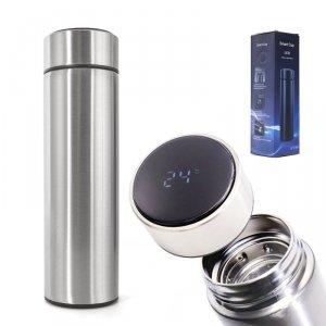 Kubek termiczny termos smart LED 500ml srebrny