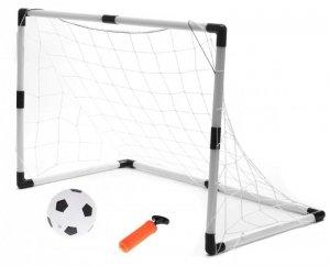 Bramki piłkarskie dla dzieci 2w1 (2szt-62x42x28cm/1szt-120x80x52cm) + piłka + pompka