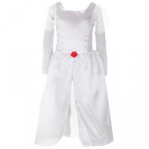 Kostium strój karnawałowy biała dama księżniczka