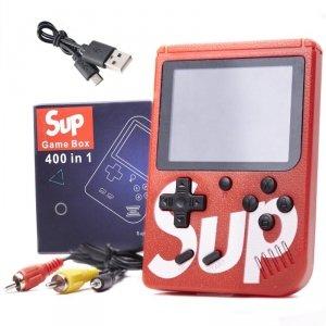 Konsola przenośna Game Box 400 gier czerwona