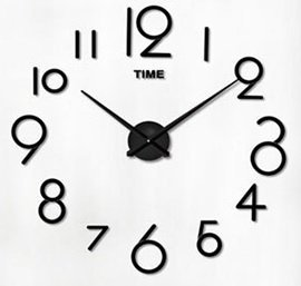 Zegar ścienny fluorescencyjny 50-60cm 4 duże cyfry