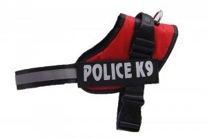 Szelki dla psa mocne L 65-80cm Police K9 odblask