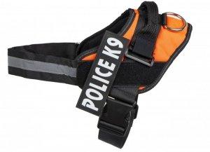 Szelki dla psa mocne L 65-80cm Police K9 pomarańcz
