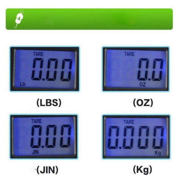 Waga wedkarska bagażowa hakowa 40kg