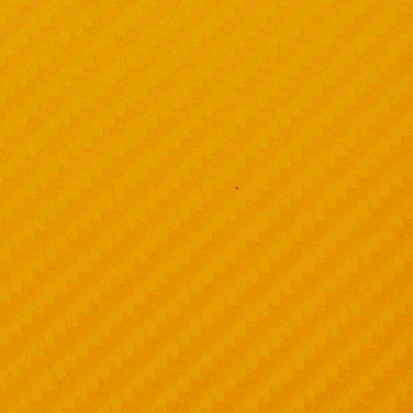 Folia odcinek carbon 4D zółta 1,52x0,1m
