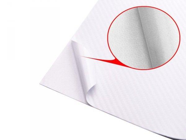 Folia rolka carbon 4D biała 1,52x30m
