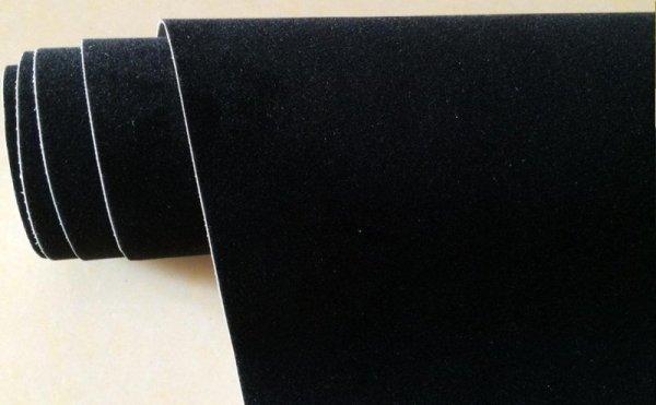 Folia odcinek aksamitna czarna 1,35x0,1m