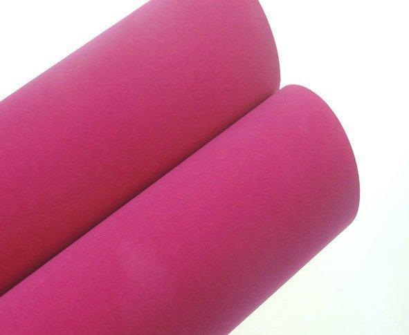 Folia odcinek okleina welur aksamitna różowa 1,35x0,1m