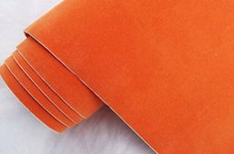 Folia odcinek aksamitna pomarańczowa 1,35x0,1m