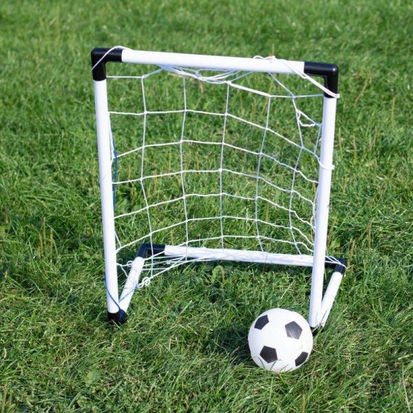 Bramki piłkarskie dla dzieci (1szt-42x62x28cm/1szt-1x84x124x56cm) + piłka + pompka
