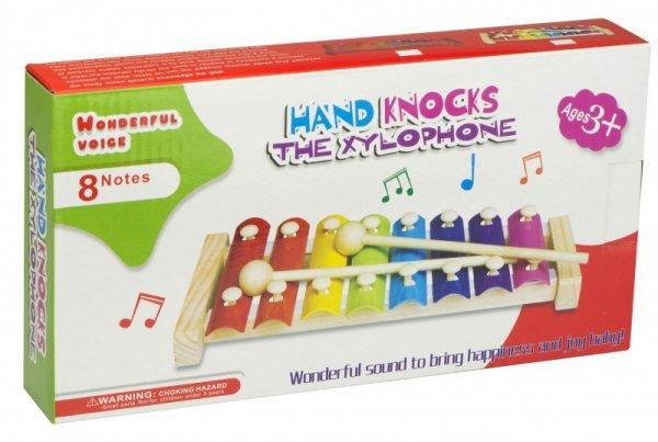 Cymbałki drewniane kolorowe edukacyjne