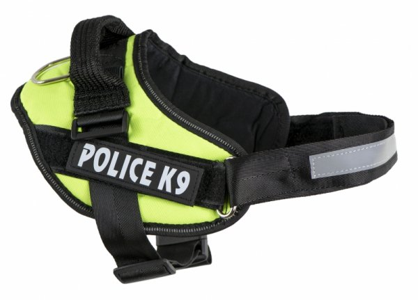 Szelki dla psa mocne S 50-60cm Police K9 odblask