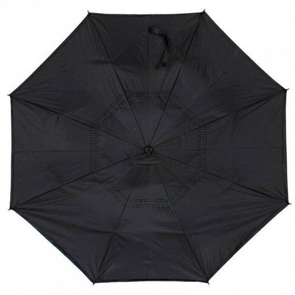 Parasol odwrotnie otwierany składany czarny