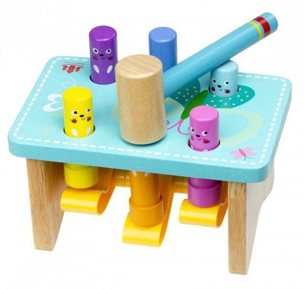 Zabawka drewniana Wbijak wbijanka z młoteczkiem