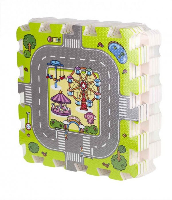 Puzzle piankowe mata dla dzieci ulica 31x31cm
