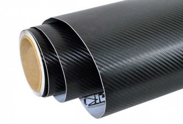 Folia rolka carbon 3D czarna 1,27x28m