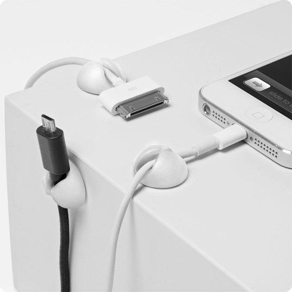 Organizer uchwyt do kabli samoprzylepny CABLE DROP silikon