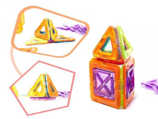 Klocki magnetyczne kolorowe MAGICAL MAGNET 20SZT