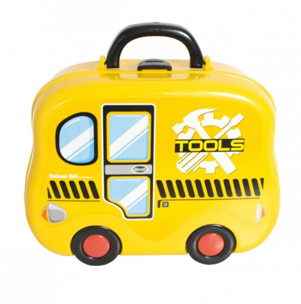 Zestaw warsztat z akcesoriami - Walizka autobus