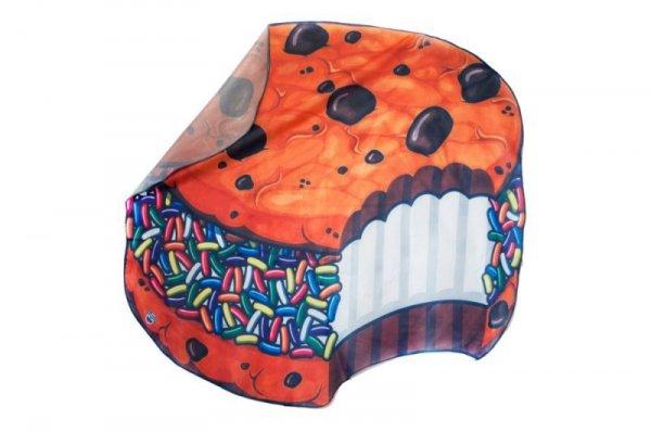 Szybkoschnąca mata plażowa  135cm wzór: ciastko