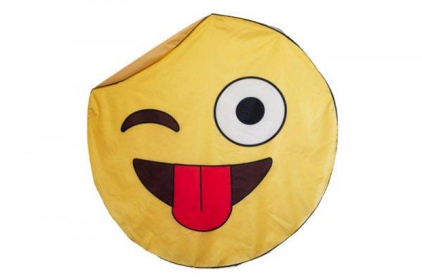 Szybkoschnąca mata plażowa 135cm wzór Emoji Tongue